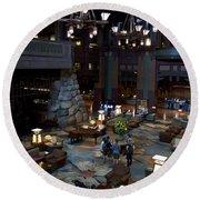 Disneyland Grand Californian Hotel Lobby 01 Round Beach Towel