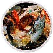 Display Fish Round Beach Towel