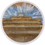 Display Hall At Temple Of Apollo Hylates Round Beach Towel