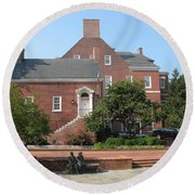 Display Patience Sculpture - Annapolis Round Beach Towel