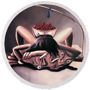 Disposable Woman Round Beach Towel