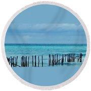 Distant Shore Round Beach Towel