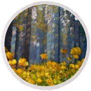 Distorted Dreams By Day Round Beach Towel