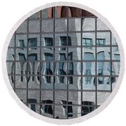 Distorted Reflections Round Beach Towel