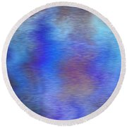 Distorted Waters Round Beach Towel