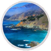 Distractions Round Beach Towel