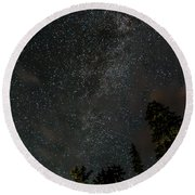 Disturbing The Milky Way Round Beach Towel