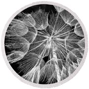 Ditch Lace Bw Round Beach Towel