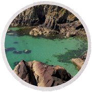 Dive Right In Round Beach Towel
