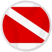 Diver Flag Round Beach Towel