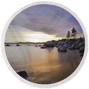 Divers Cove At Sand Harbor Round Beach Towel