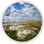 Divine Beach Day  Round Beach Towel