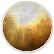 Divine Light Round Beach Towel