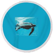 Diving Deep Round Beach Towel