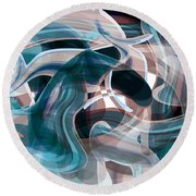 Diving Into Your Ocean 3 Round Beach Towel by Angelina Vick