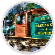 Dixiana Engine 3 Round Beach Towel