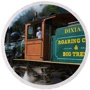 Dixiana Engine 4 Round Beach Towel