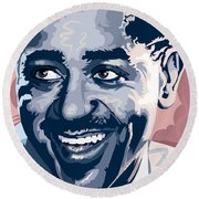 Dizzy Gillespie Portrait Round Beach Towel
