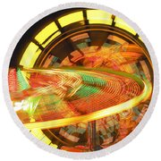 Dizzy Round Beach Towel