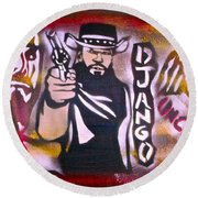 Django Blood Red Round Beach Towel