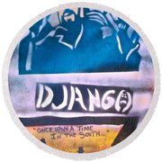Django Once Upon A Time Round Beach Towel
