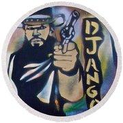 Django Three Faces Round Beach Towel