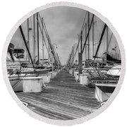 Dock Life Round Beach Towel