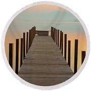 Dock Of The Bay Round Beach Towel