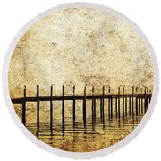 Dock Round Beach Towel