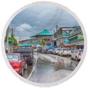 Dock Street - Cedar Key Round Beach Towel