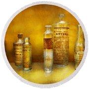 Doctor - Oil Essences Round Beach Towel