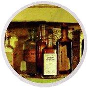 Doctor - Syrup Of Ipecac Round Beach Towel by Susan Savad