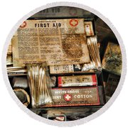 Doctor - The First Aid Kit Round Beach Towel