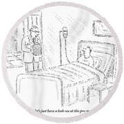 Doctor To Patient Round Beach Towel