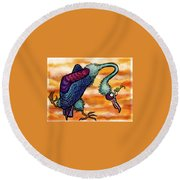 Doctor Vultura Round Beach Towel by Kelly Jade King