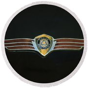 Dodge Brothers Emblem Round Beach Towel