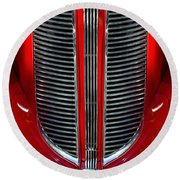 Dodge Brothers Grille Round Beach Towel