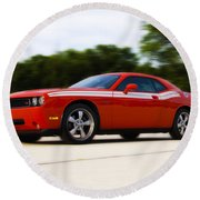 Dodge Challenger Round Beach Towel