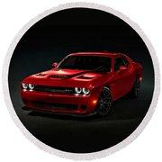 Dodge Challenger S R T Hellcat Round Beach Towel