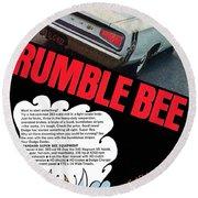 Dodge Coronet Super Bee - Rumble Bee Round Beach Towel