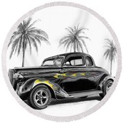 Dodge Coupe Round Beach Towel