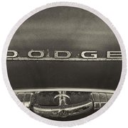 Dodge Emblem Round Beach Towel