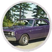 Dodge Gts- Trees Round Beach Towel