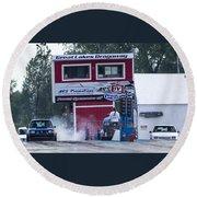 Dodge Omni Glh Vs Rwd Dodge Shadow - 03 Round Beach Towel