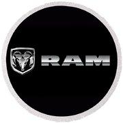 Dodge Ram Logo Round Beach Towel