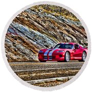 Dodge Viper  V1 Round Beach Towel