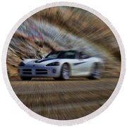 Dodge Viper V3 Round Beach Towel