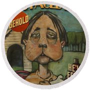 Dog Faced Boy Poster Round Beach Towel
