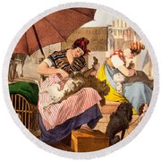 Dog Groomers, 1820 Round Beach Towel