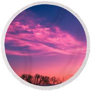 Dog Sunrise 2 Round Beach Towel